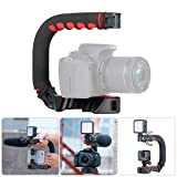 U Grip Pro Camera Stabilizer Handle Grip w 3 Shoe Mounts, Universal Video Action Stabilizing Handle Grip Compatible for Canon Nikon Sony DSLR Camera/Camcorder