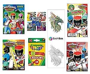 Amazon.com: BashBox ® Power Rangers Coloring & Activity Book Gift Set