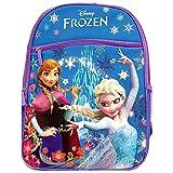 """Disney Frozen Princess Elsa & Anna 16"""" Backpack with 1 Large Front Pocket"""