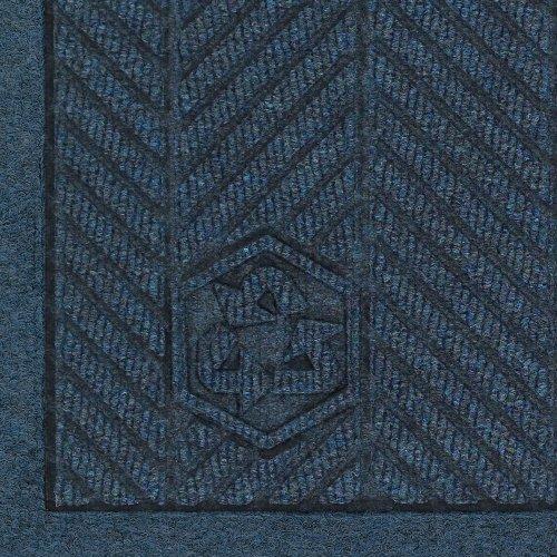 "Andersen 2241 Waterhog Fashion Eco Elite Pet Polyester Entrance Indoor Floor Mat, Sbr Rubber Backing, 5' Length X 3' Width, 3/8"" Thick, Indigo front-428500"