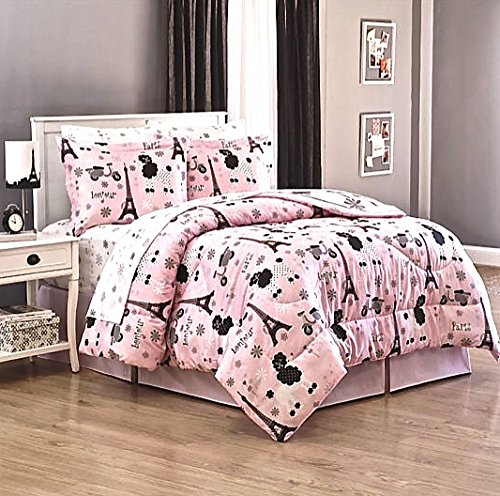French Poodle6 Piece Twin Size Comforter Bed Set+Sheets