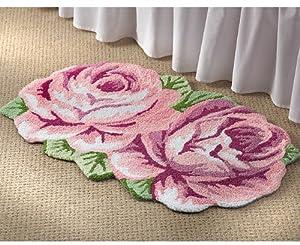 Hand Hooked Rose Bedroom Rug