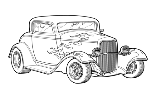 hotrod coloring pages - photo#5