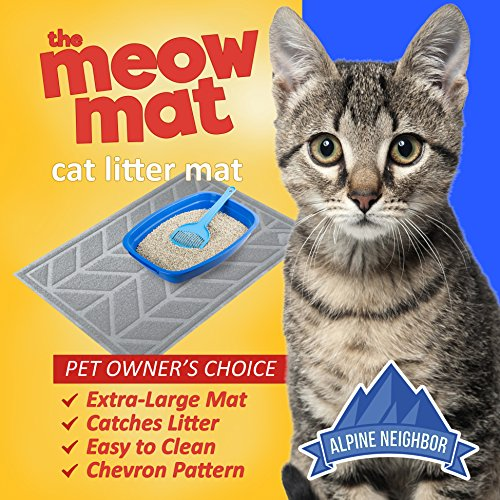 cat litter mat by alpine neighbor xl jumbo size to trap. Black Bedroom Furniture Sets. Home Design Ideas