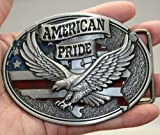 Brand:e&b Pewter Style American Pride Us Flag Soaring Eagle Belt Buckle Wt-093
