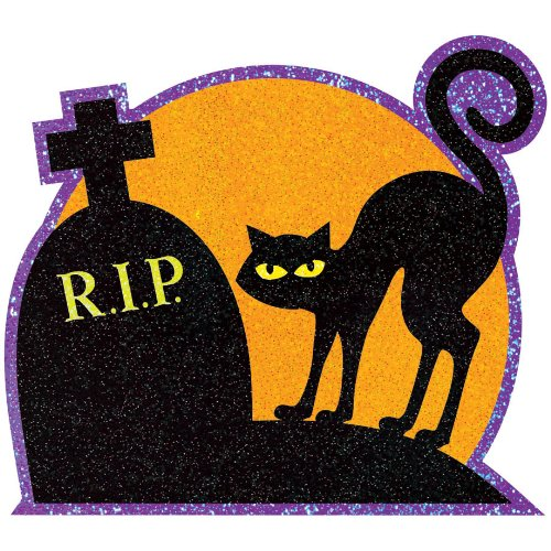 Glitter Halloween Cutouts- 10ct - 1