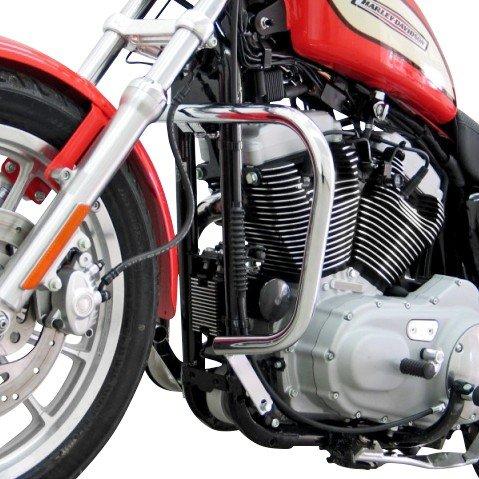 Pare Carter pour Harley Davidson Sportster 1200 Low (XL 1200 L) 07-09 argent