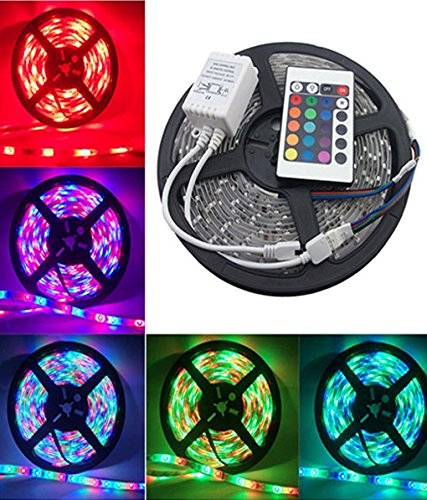 5 Meter Waterproof Remote Control Led Strip Light For Home,office,Diwali,Eid & Christmas Decoration
