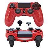 Pandaren PS4 Controller Case,FPS Ultra-Armor Gear case PS4 Trigger Extender Cover for PS4 /Slim/PRO/Playstation 4 Controller (Red) (Color: Red, Tamaño: PS4)