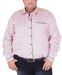 Xmex Men's Cotton Shirt (KR-359PINK, Pink, XXX-Large)