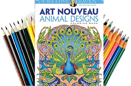 Dover-Creative-Haven-Art-Nouveau-Animal-Designs-Coloring-Book-Adult-Coloring
