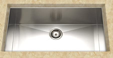Cantrio KSS-004 Stainless Steel Undermount Kitchen Sink, 22 x 32-Inch