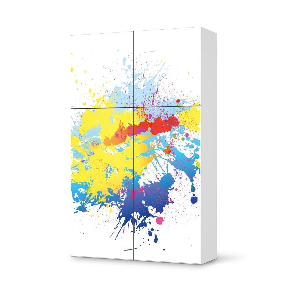 Folie IKEA Besta Schrank Hochkant 4 Türen (2+2) / Design Aufkleber Splash 1 / Dekorationselement bestellen
