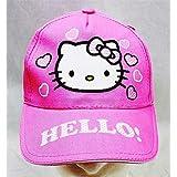 Baseball Cap - Hello Kitty - Pink Heart Pink Hat Kid Girls New HEK3938P
