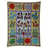 Rajrang Home Décor Embroidered Patch Work Gray Wall Hanging - B00TQRNUPA