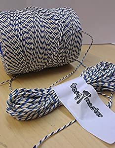 100m - Blue & White Bakers, Butchers, Craft, Parcel String Twine [Misc.]