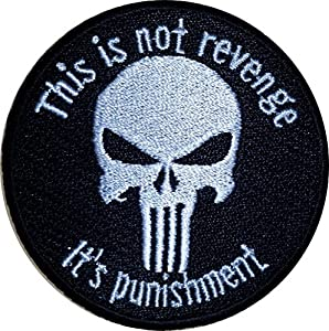 "VELCRO This is not revenge it's punishment 2.5"" military tactical airsoft biker morale patch Punisher"