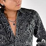 (ブラックバリア) BLACK VARIA シャツ ペイズリー柄 総柄 長袖 レギュラーカラーシャツ ブラック 935002 L