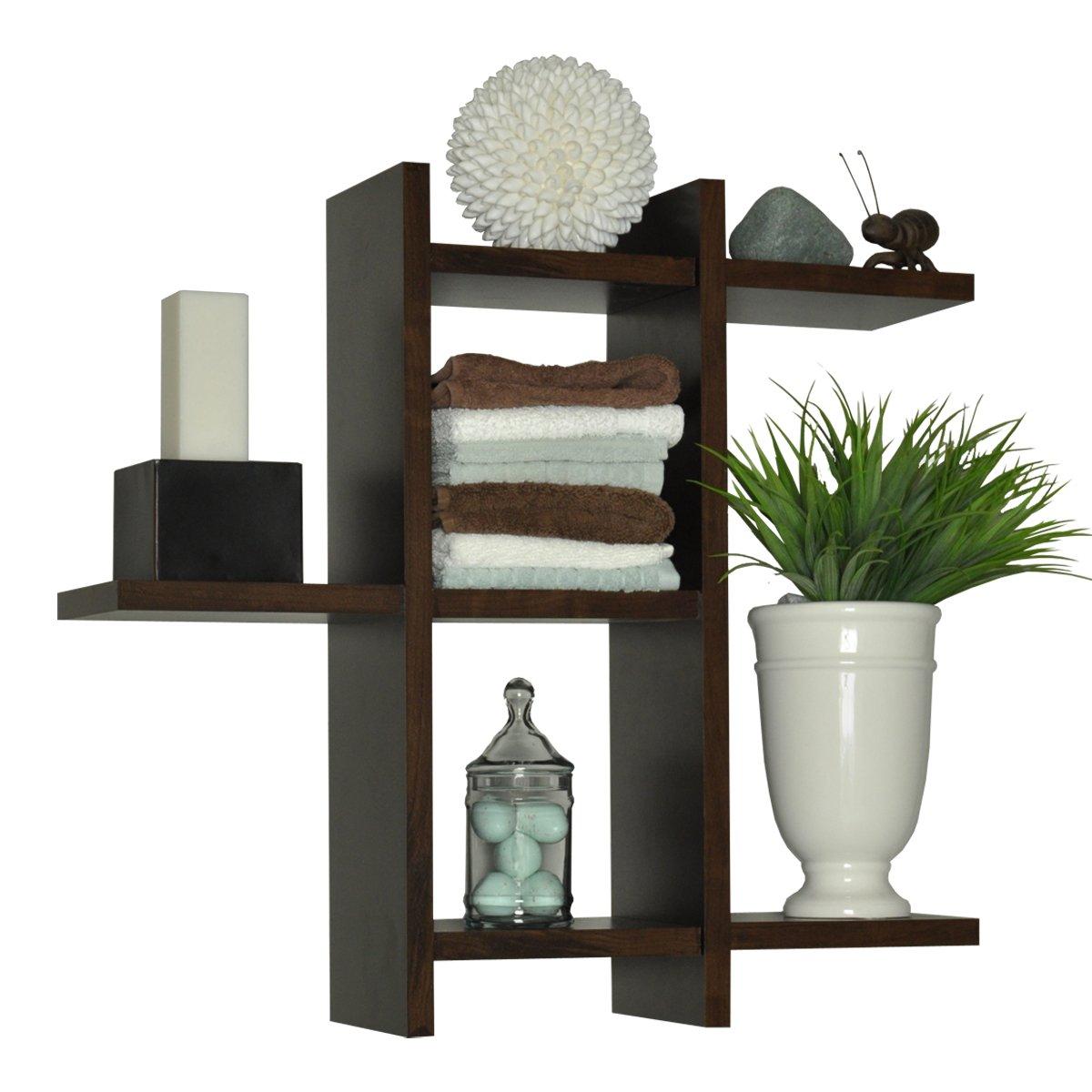 New Modern Floating Shelf Set Contemporary Hidden Mount 3