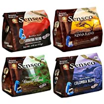 Senseo Douwe Egberts Coffee Pods, Variety Pack, 16-Count Packages (Pack of 4)