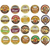 Crazy Cups Chocolate Lovers Coffee And Cocoa Gift Sampler, Single-Cup Pack Sampler for Keurig K-Cup Brewers, Pack of 20