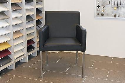 Armlehnstuhl Ledersessel Nois Rindsleder Schwarz | SIX Leder Sessel Lederstuhl