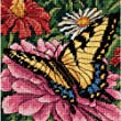 Dimensions Needlecrafts Needlepoint, Butterfly on Zinnia