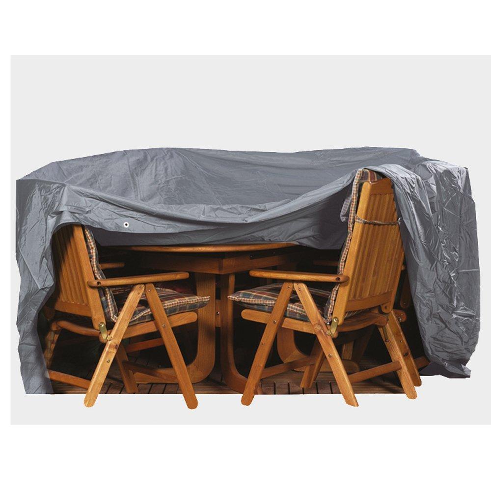 Premium Schutzhülle für Sitzgruppen, 230 x 135 PVC-Oxford 600, oval, anthrazit günstig online kaufen