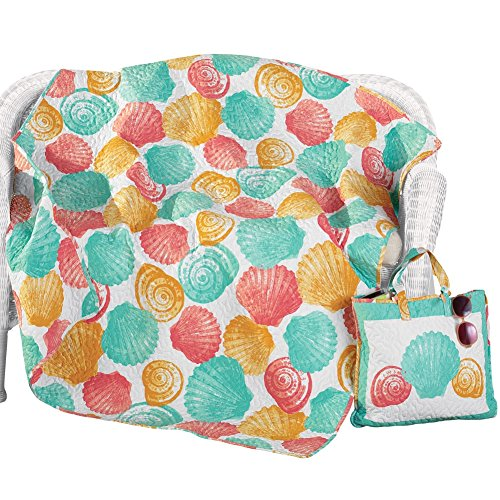 Graphic Seashell Throw and Tote Bag (Bbq Heat Blanket compare prices)