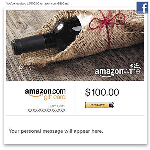 Amazon Gift Card - Facebook - Amazon Wine (Bottle) front-999541