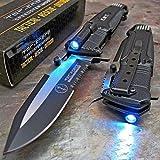 TAC-FORCE Open LED Light EMT EMS Folding Pocket Rescue Knife NEW