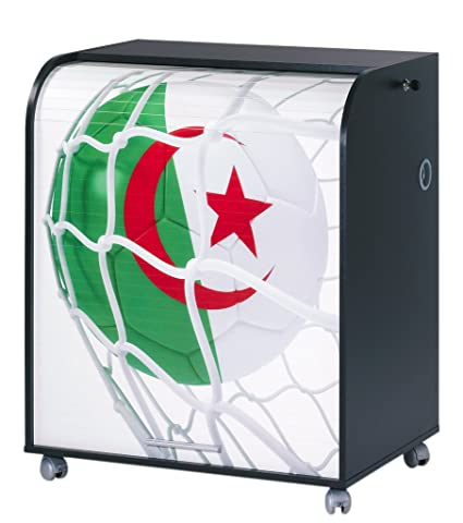 Simmob must095no962 Algeria 962 Ball World Cup Computer Desk Black Wood 53.2 x 79.2 x 93,8 cm