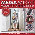 Magnetic Screen Door - Mega Mesh -Hea...