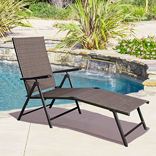 giantex adjustable pool chaise lounge chair recliner