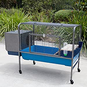 Flyline rabbit guinea pig cage on wheels for Buy guinea pig cage
