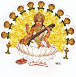 SARASWATI MAA DOUBLE SIDED CAR WINDOW STICKER - DS 0052