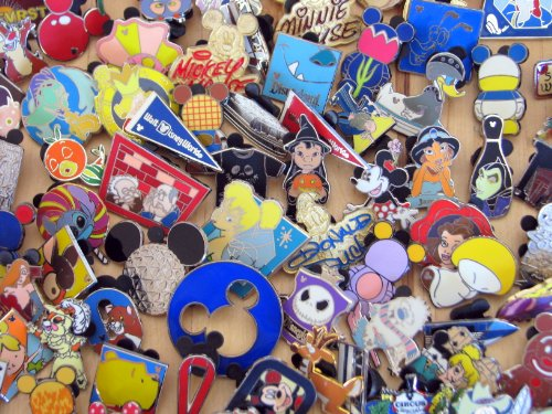 Disney Hidden Mickey Cast Lanyard Collector Badge Pin LOT of 30 Pins NO DOUBLES