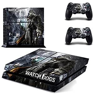 Watch Dogs Wrap Body Skin Sticker Decal for Playstation 4 PS4 Console+Controller