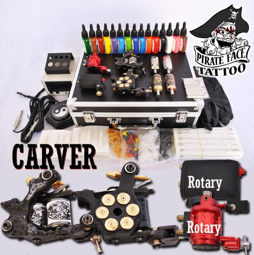 Super save carver tattoo kit 4 machine guns power for Cheap tattoo kits amazon