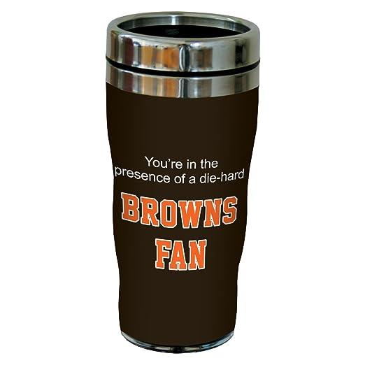 Tree-Free Greetings sg24114 Browns Football Fan Sip 'N