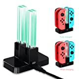DOBE Switch Controller Charger for Nintendo Switch, Joy-Cons Charging Dock Station with 4 Charging Dock + LED indication