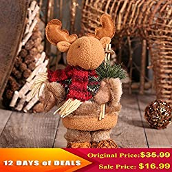 "12 DAYS of DEALS Christmas Decorations, Christmas Reindeer Toy Festive Gifts Home Party Decor Ornament Crafts 11""x4"""