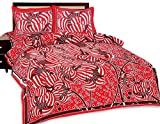 Shop Rajasthan Designer Floral Print 100% Pure Cotton Printed Flat Double Bed Sheet With 2 Pillow Covers