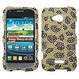 MYBAT Leopard Skin/Camel Diamante Protector Cover for SAMSUNG L300 (Galaxy Victory 4G LTE)