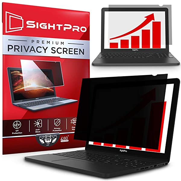 SightPro 16 Inch Laptop Privacy Screen Filter for 16:9 Widescreen Display - Computer Monitor Privacy and Anti-Glare Protector (Color: 16 Inch (Diagonal) - 16:9 Aspect Ratio, Tamaño: 16 Inch (Diagonal) - 16:9 Aspect Ratio)
