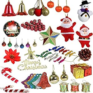 Buy christmas tree ornaments gift set for decoration pack - Buy christmas decorations online india ...