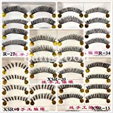10 Pair Natural Hick Soft Handmade Makeup False Eyelashes#Style R 34