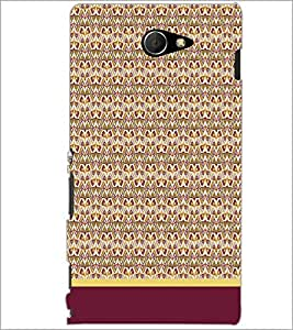 PrintDhaba Pattern D-1613 Back Case Cover for SONY XPERIA M2 (Multi-Coloured)