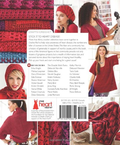 Crochet red crocheting for women 39 s heart health stitch for Craft hobbies for women