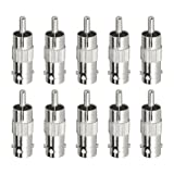 Anlapus Security Anlapus 5 Pack x BNC Male Socket Plug to RCA Phono Female Adapter Connector For CCTV Camera(Pack of 5)